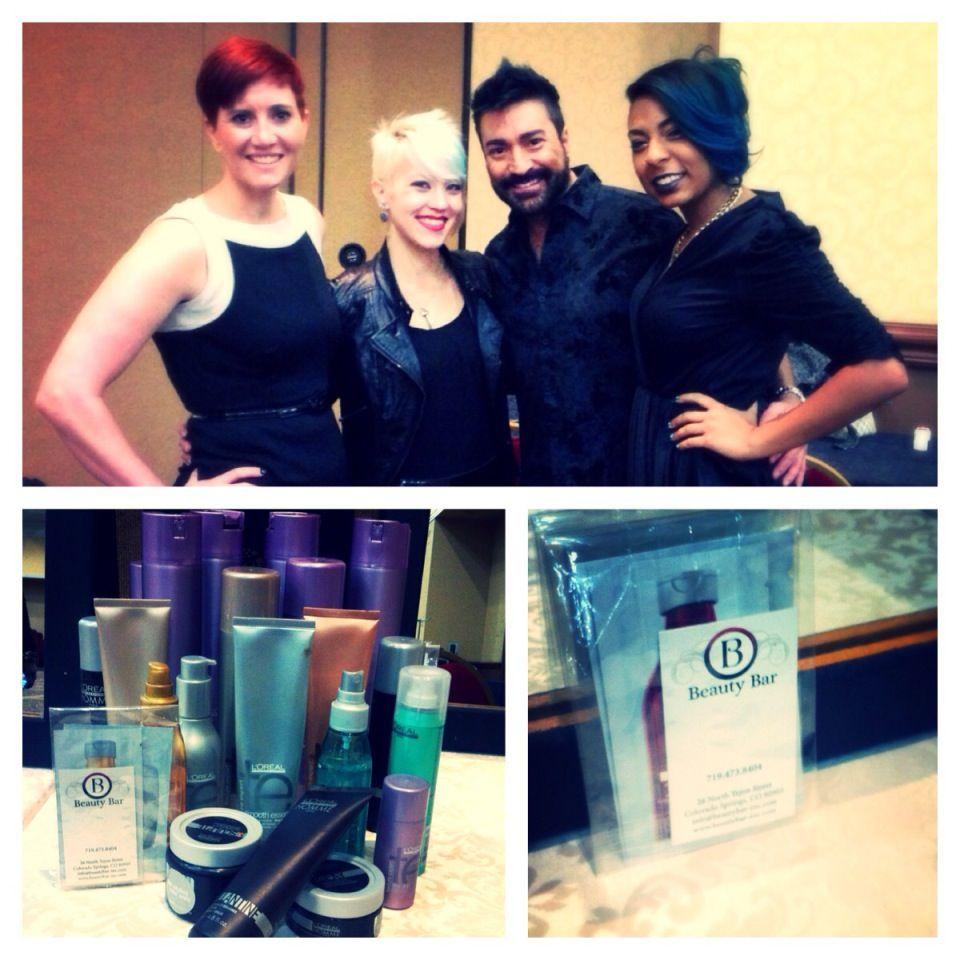 Beauty Bar\'s creative team at the Broadmoor! http://www.beautybar ...