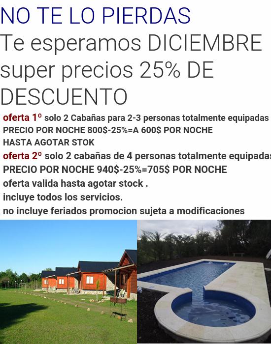 Promociones Promociones Cabanas Promociones Descuentos