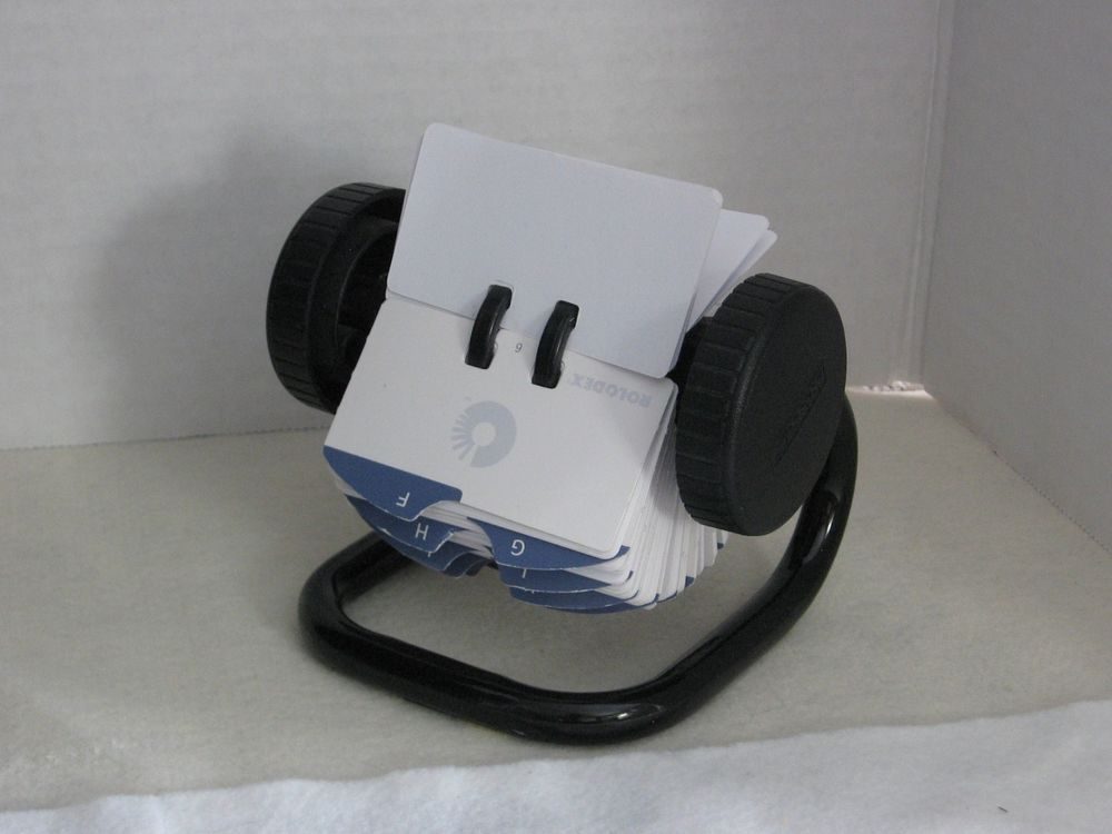 Rolodex Metal Rotary Stand BusinessCard PhoneContact Holder 1 3/4\