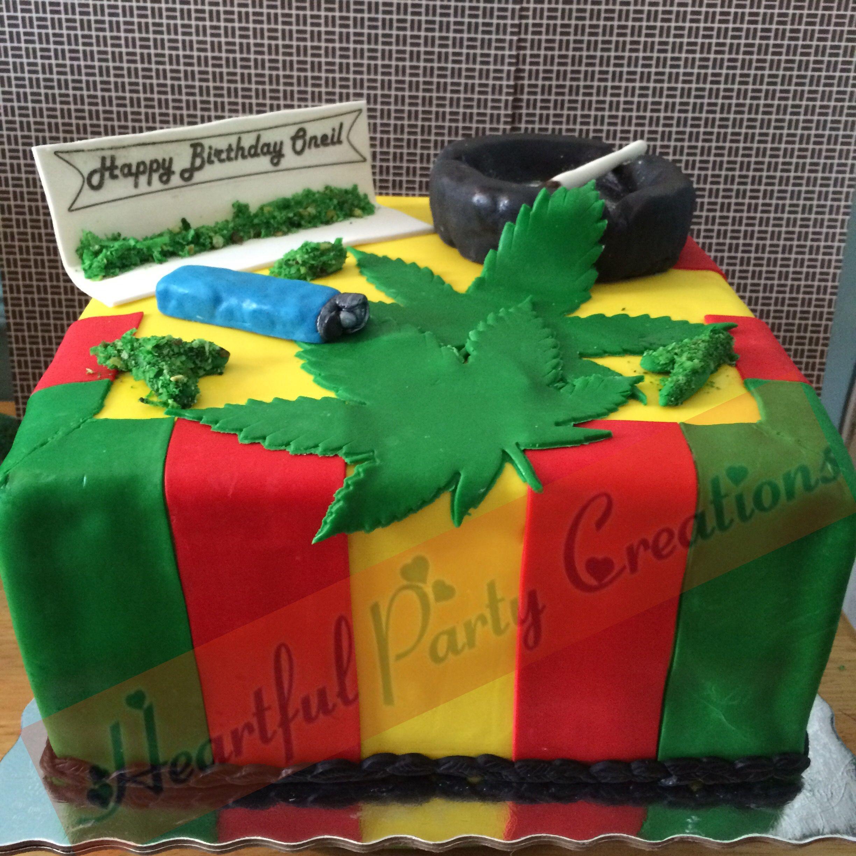 MarijuanaJamaica themed birthday cake Partiescakes Pinterest