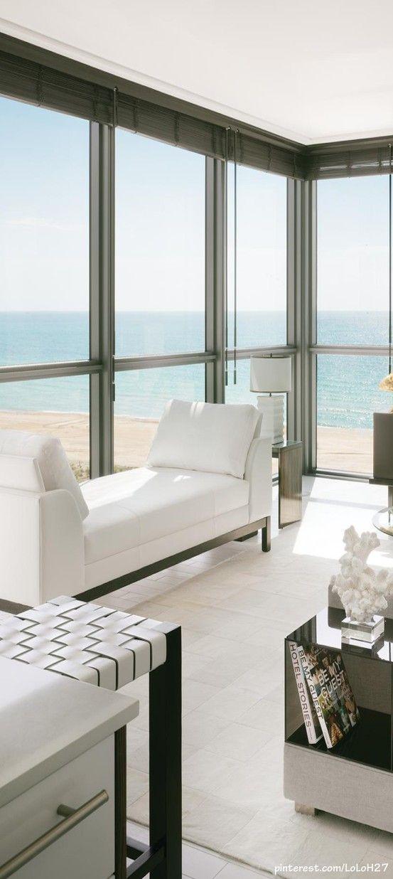 lovely beach house living room | Mini Blinds in 2019 | Coastal living rooms, Luxury homes ...