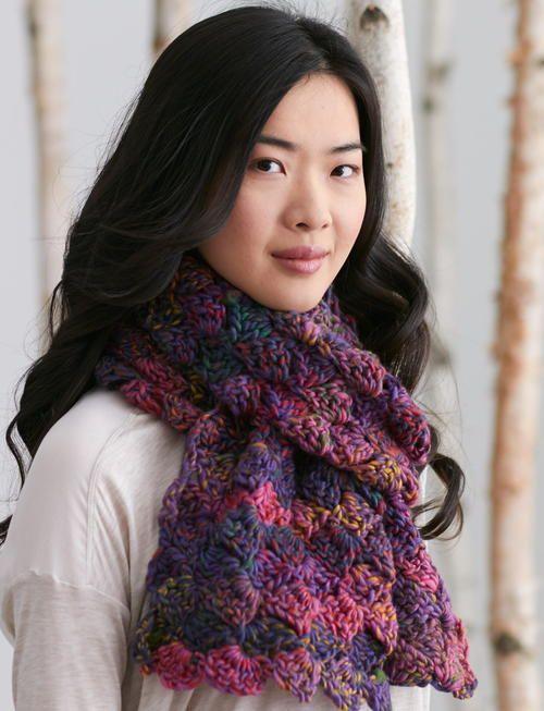 Aurora Borealis Crochet Scarf | Crochet bufanda, Cuellos tejidos y ...
