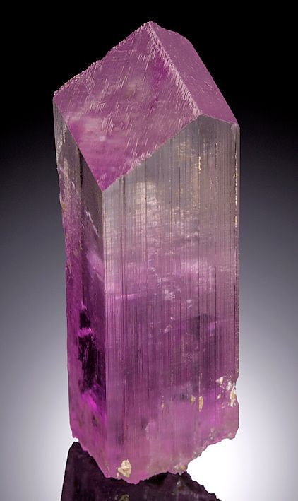 Spodumene var. Kunzite. From the Pech (Peech) Pass, Kunar Province of Afghanistan Measures 6.8 cm by 2.2 cm by 2.3 cm in total size.