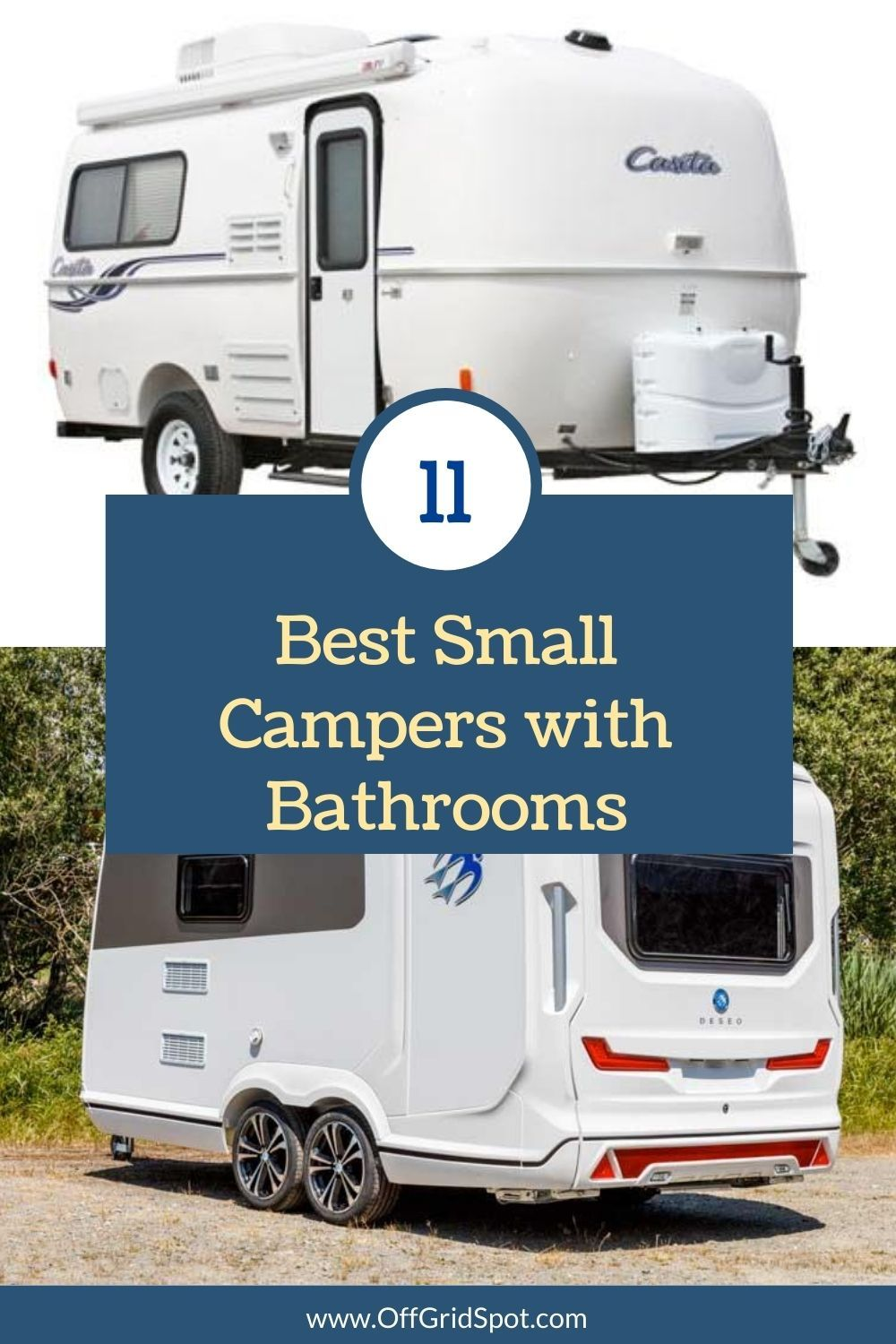 20++ Small campers with bathrooms background