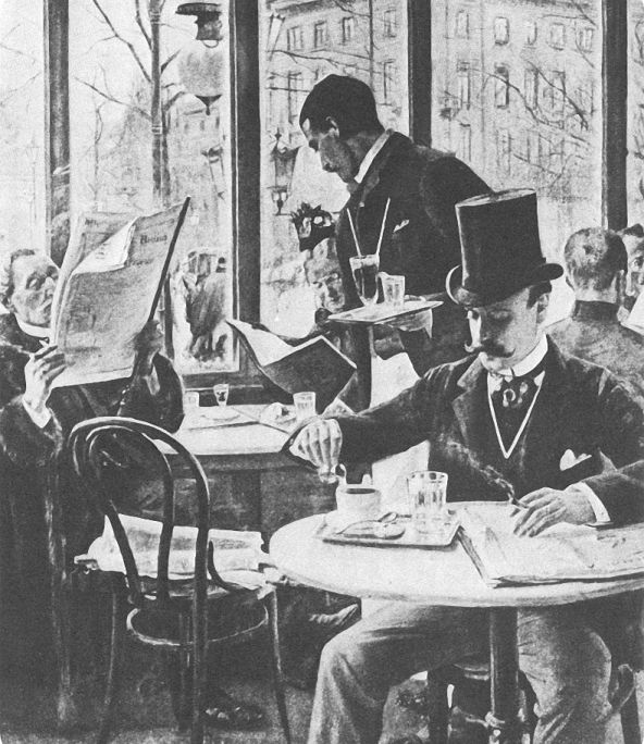 Um 1900 Berlin Café Josty Am Potsdamer Platz Prussiagermany