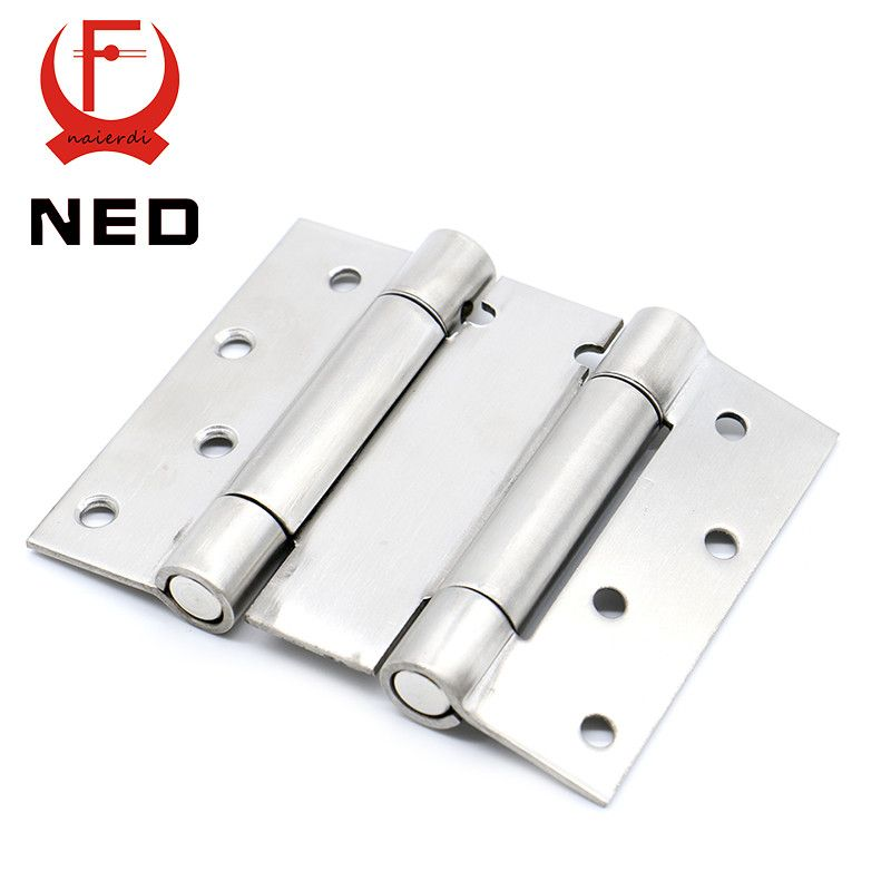 2PCS NED 5101 4 Inch Double Action Spring Door Hinge Stainless Steel  Rebound Hinge For