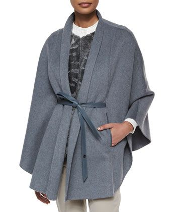 Anversa Breitschwanz Double Baby Cashmere Gilet Cape  by Loro Piana at Bergdorf Goodman.
