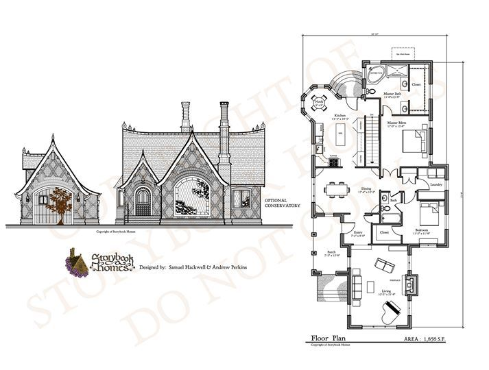 Maple Cottage and Floor Plan from Storybook Homes