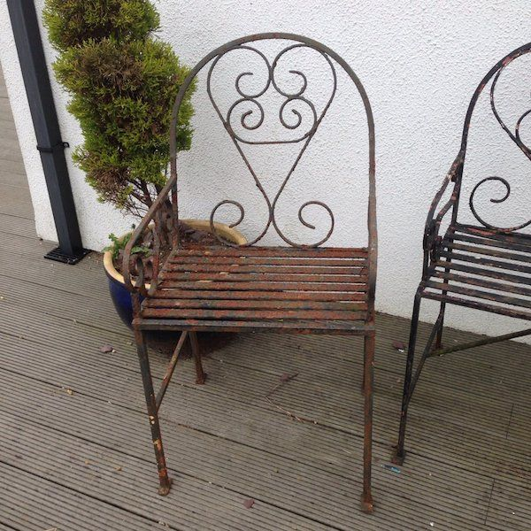Garden furniture metal very old heavyFor Sale in Wexford