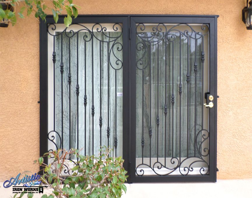 Wrought Iron Patio Security Doors Wrought Iron Security Doors