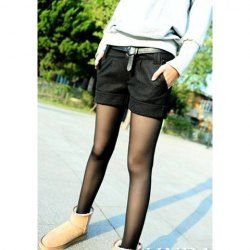 $5.93 Elegant Turnup Solid Color Woolen Fabric Shorts For Women