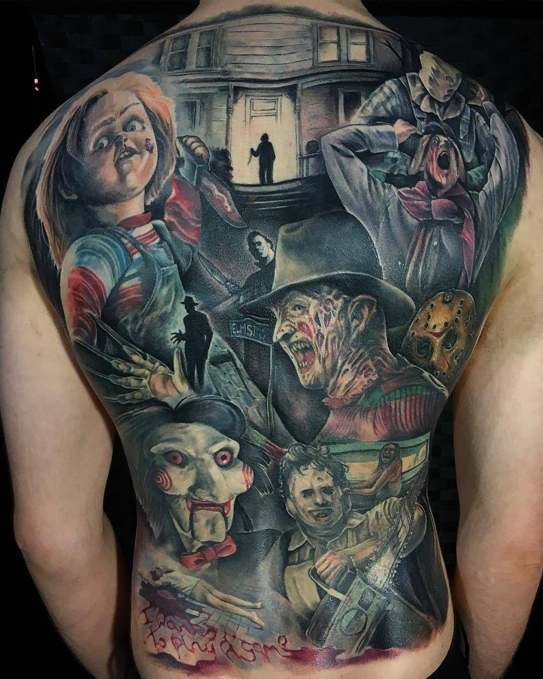 Horror Movies By @joekworrall At Heart & Arrow Tattoo In