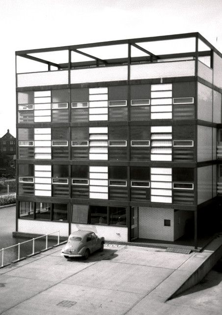 Chamberlin Powell  Bon warehouse/office, 1958 by Phil Gyford on Flickr.