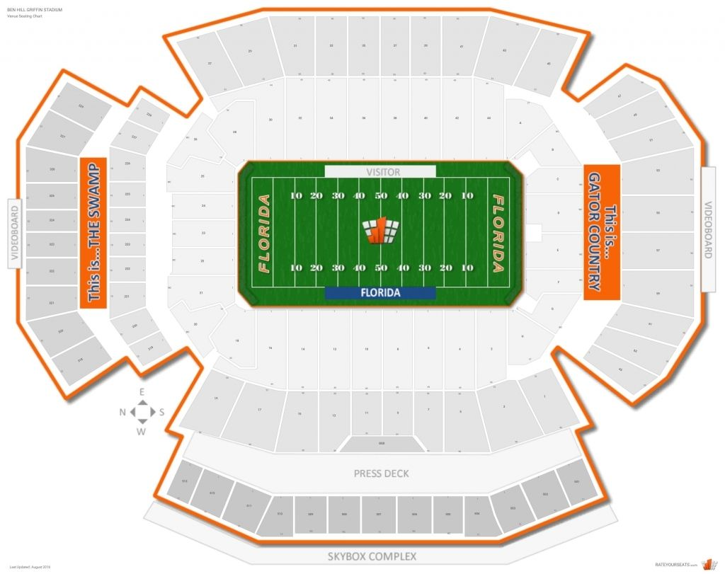 The Stylish And Also Lovely Ben Hill Griffin Stadium Seating Chart Seating Charts Chart Seating