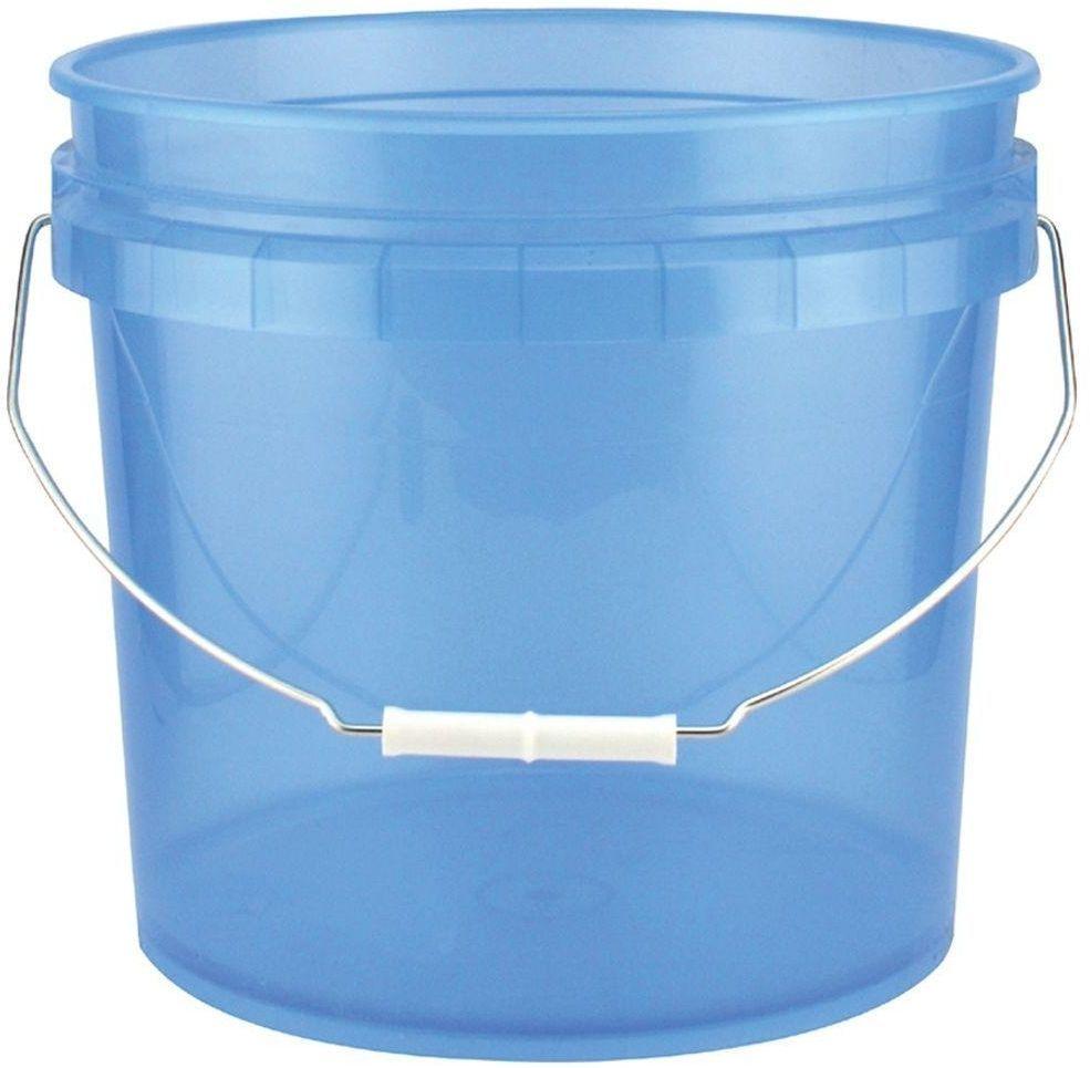 3 5 Gal 14 Qt Blue Plastic Translucent Pail Paint Buckets Pack Of 3 Leaktite Pail Paint Buckets Plastic Pail