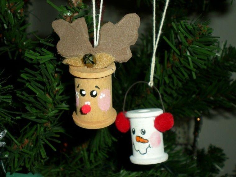 adornos navideños ideas infantil renos navidad Pinterest