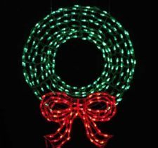 Look at this ebay site for xmas decor outdoor lighted 3 foot led pre lit led outdoor wreath with bow sculpture and 280 twinkling green and red the home depot aloadofball Images