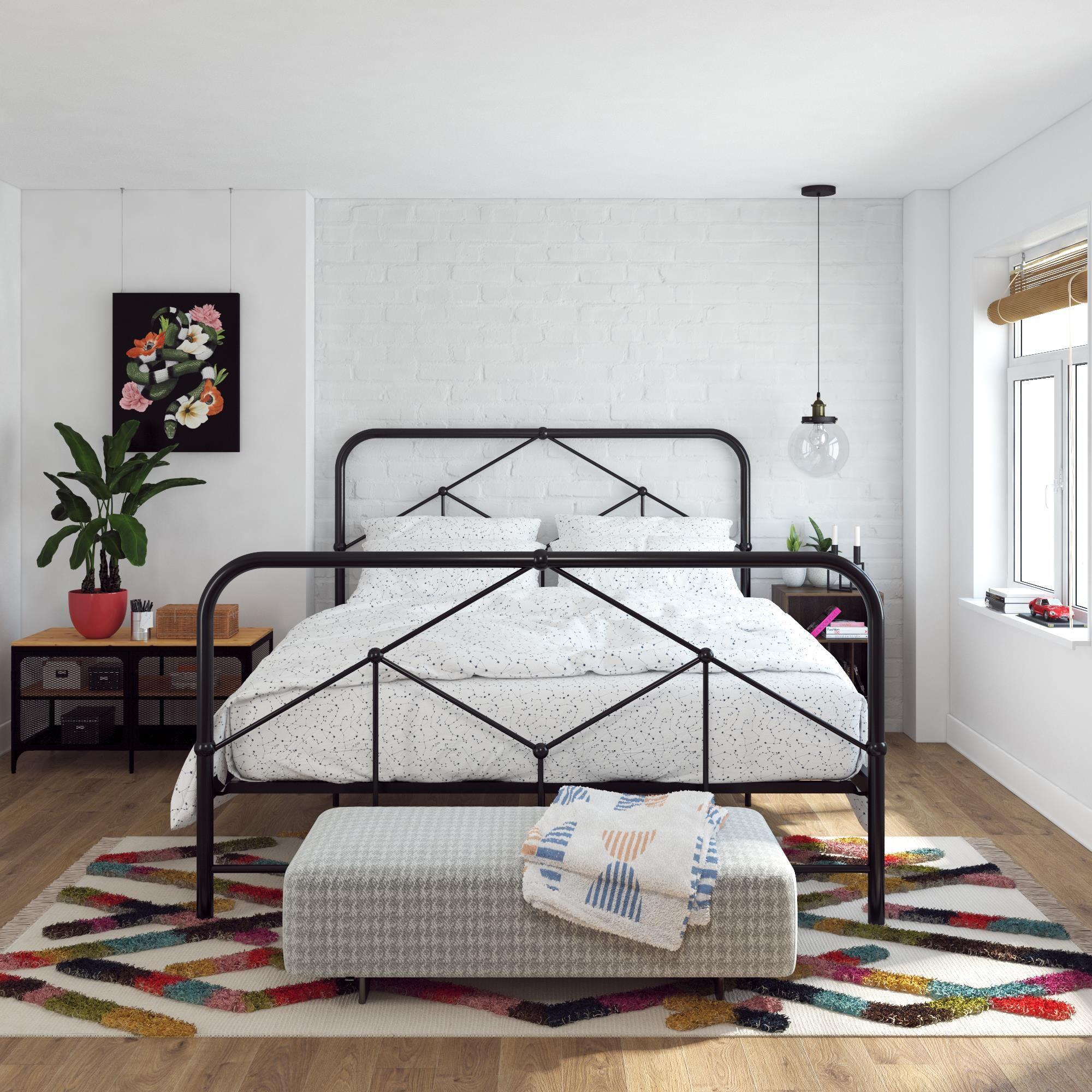Home In 2020 King Bed Frame Black Bed Frame Queen Bed Frame
