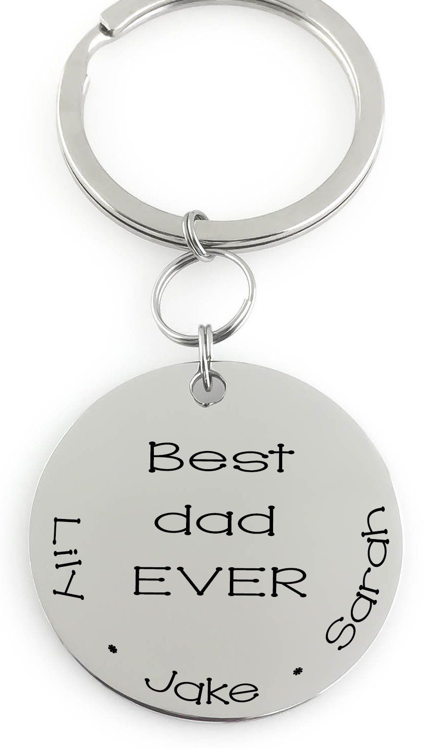 Piercing jewelry names  Key Chain  best dad Ever  Kids Names Perfect Gift for Dad