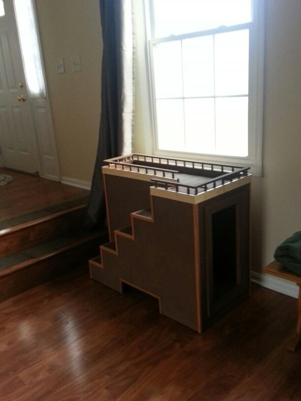 Dog Window Seat With Toy Storage For The Dogs Dog