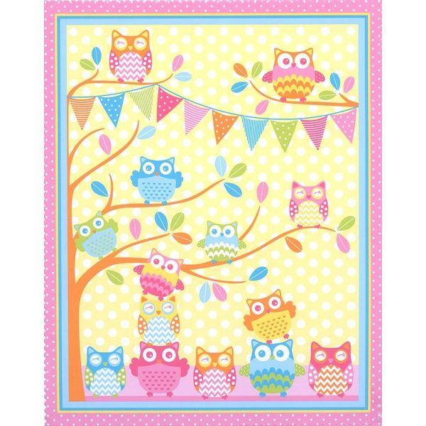 GELATI OWL NOVELTY OWLS BENARTEX CRAFT FABRIC KIT - $69.95 : Quilt ... : baby cot panels for quilting - Adamdwight.com