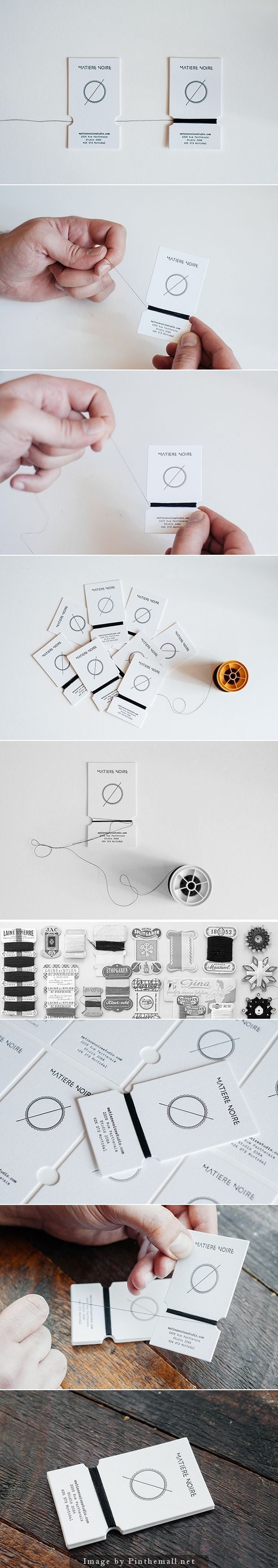 matière noire handmade business card by burak kaynak
