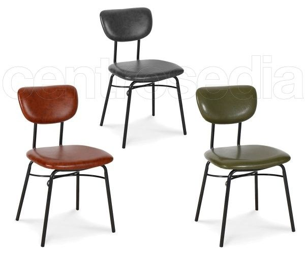 Sedie Metallo Imbottite.Liz Sedia Metallo Imbottito Sedie Vintage E Industriali