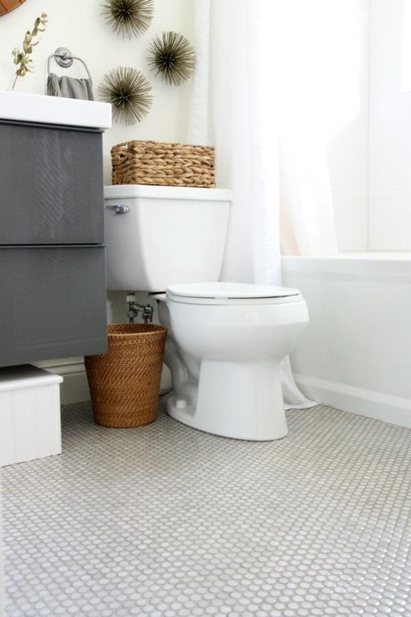 May need to consider penny tile for the floor if i can 39 t - Penny tile bathroom floor ...