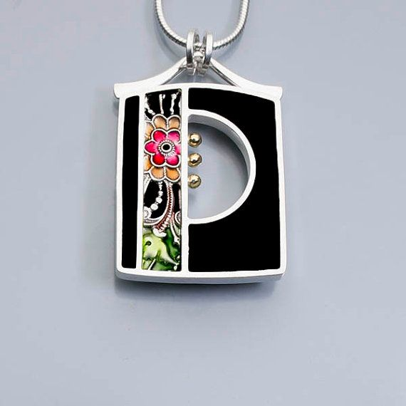 Ivy Woodrose sterling silver pmc and resin window by ivywoodrose