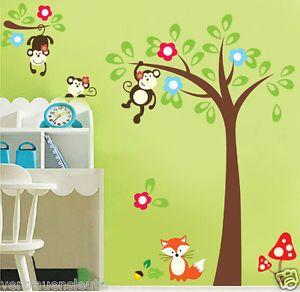 Http://i.ebayimg.com/t/Wandtattoo XL Wald Tier Baum Affen Fuchs Kinderzimmer  Wand Aufkleber Sticker /00/s/NTQwWDU1NAu003du003d/z/02cAAOSwT6pVk3lG/$_35.