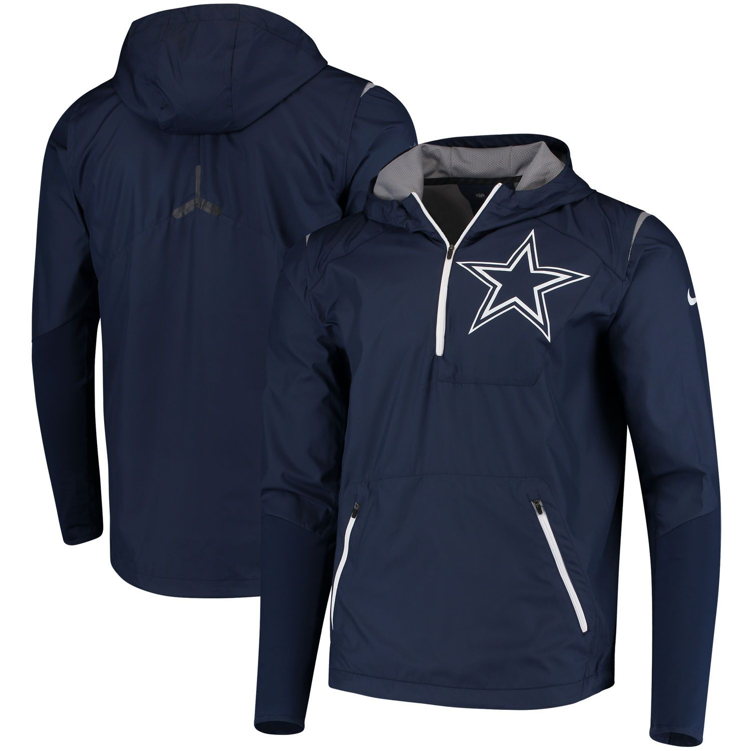 san francisco d0b44 16e1a Men's Nike Navy Dallas Cowboys Sideline Fly Rush Half-Zip ...