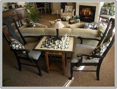 155 Dream Lane Livingroom Revisited Chess Table Game Room Family Family Room
