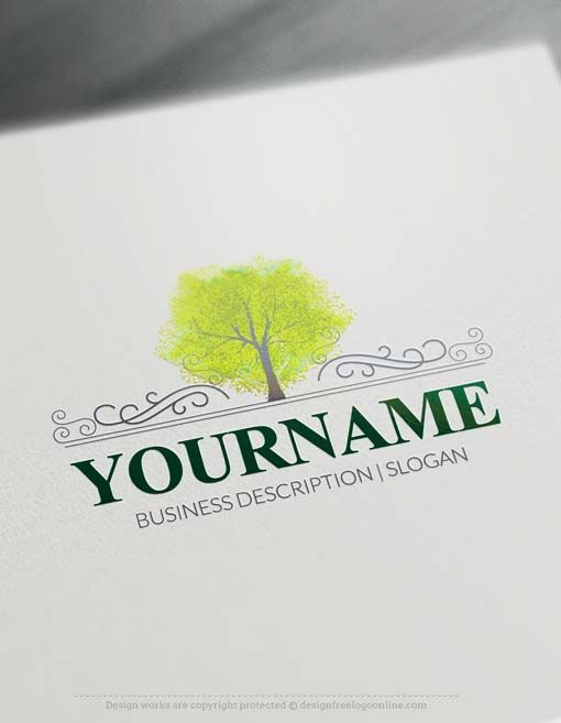 Free Logo Maker Watercolor Forest Tree Logo Designs Tree Logos