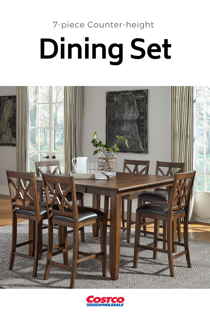 The Charming Wilmington 7 Piece Counter Height Dining Set Offers Easy Style And Function To Any Space Certain To Counter Height Dining Sets Dining Set Dining