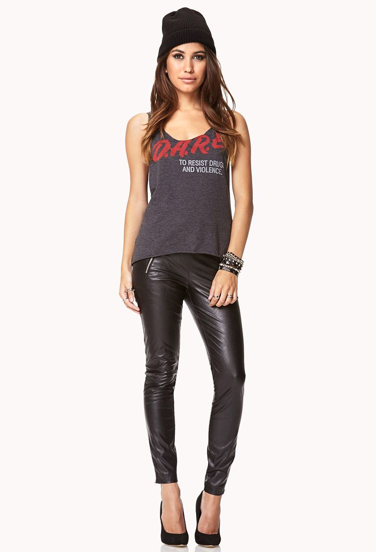 Zip Pocket Faux Leather Pants | FOREVER21 - 2072809399