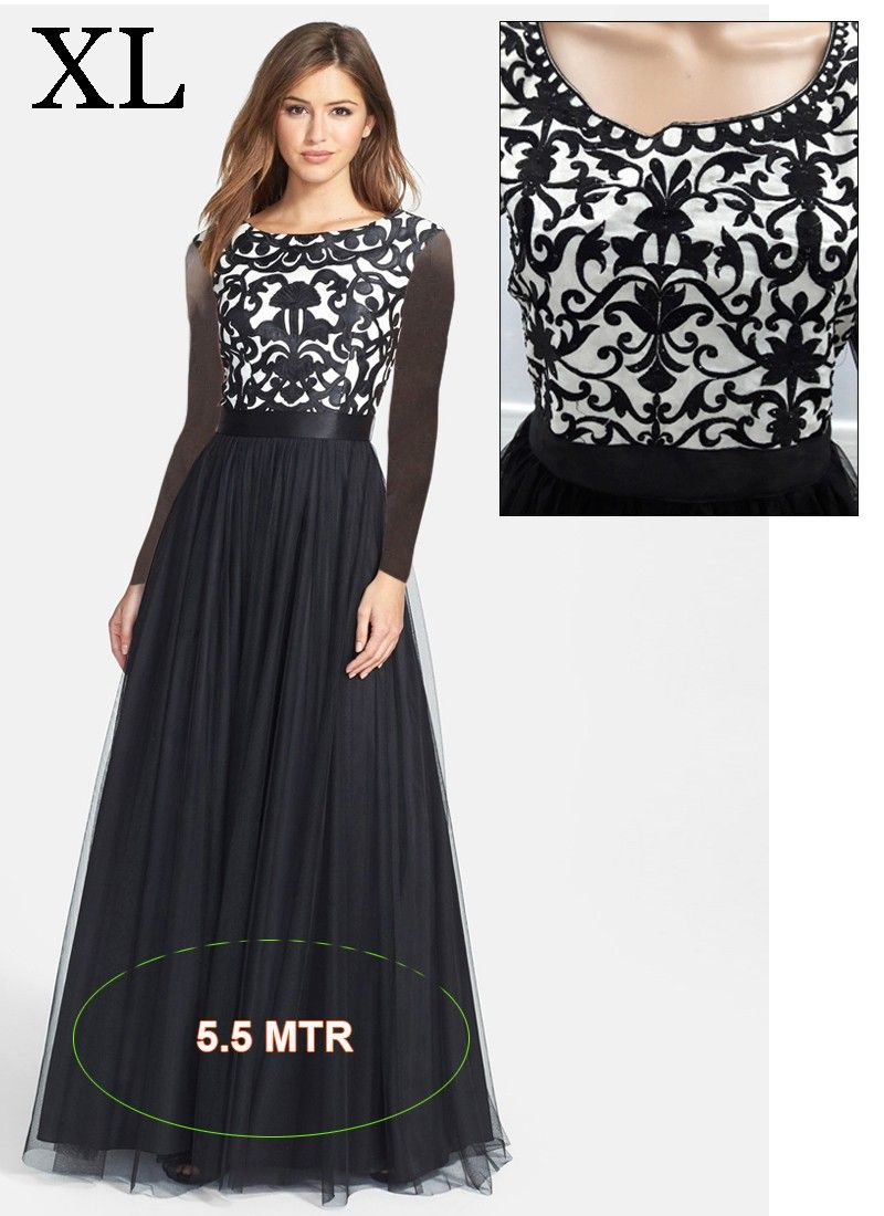 a7d8eda5f34 Voiguish Black Net Embroidery Indian Designer Gown At Best Price By  Uttamvastra - Online Shopping For Women
