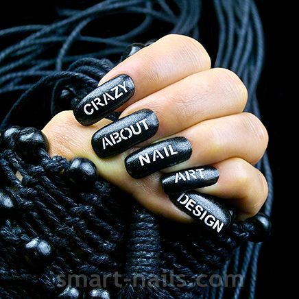 New Design The Letters Is A Nailart Design To Literally Express