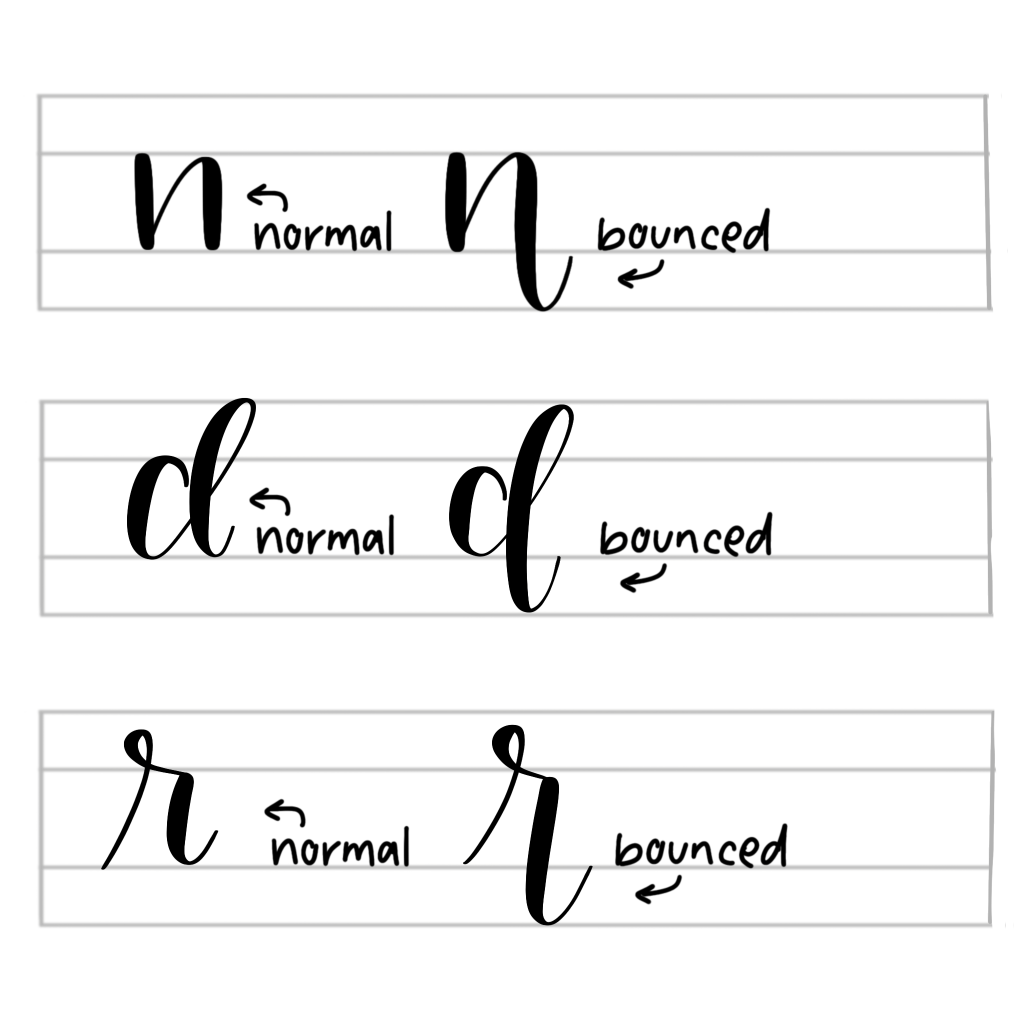 Bounce Lettering The Easy Way- Brush Pen Calligraphy Tutorial- Plus A Free Printable - Scribbling Grace