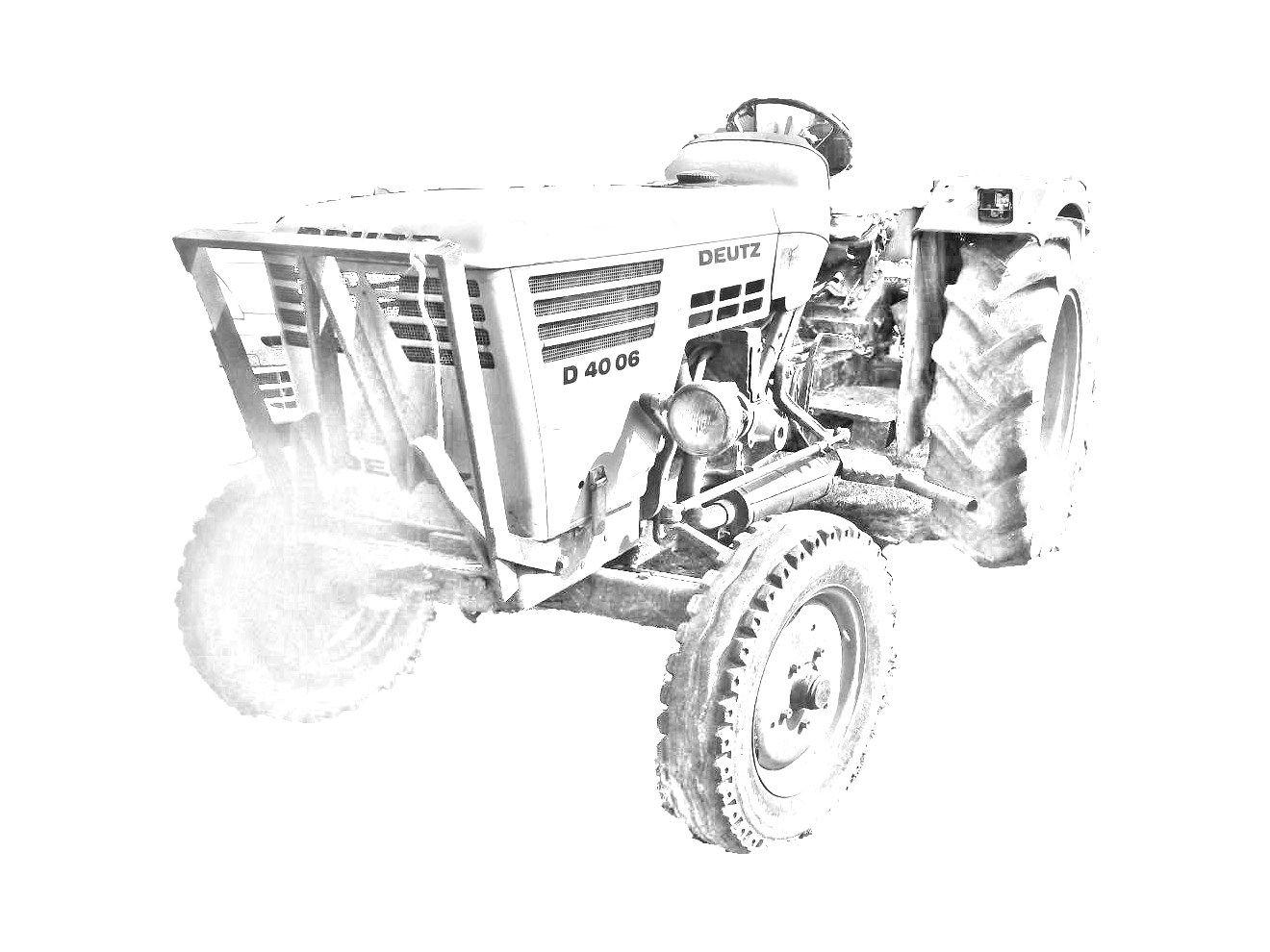 Ausmalbilder Traktor Deutz : Trattore Deutz Fahr D 40 06 Da Stampare E Colorare Vedi Le Immagini