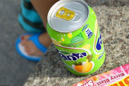 Image via We Heart It https://weheartit.com/entry/115699664/via/13495511 #drink #fanta #pineapple #summer #want #yummy