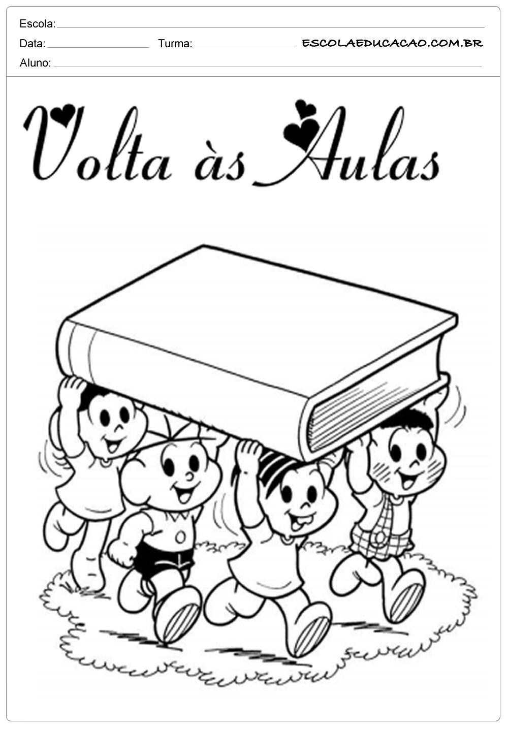 Atividade De Volta As Aulas Turma Da Mocica Com Imagens Capa