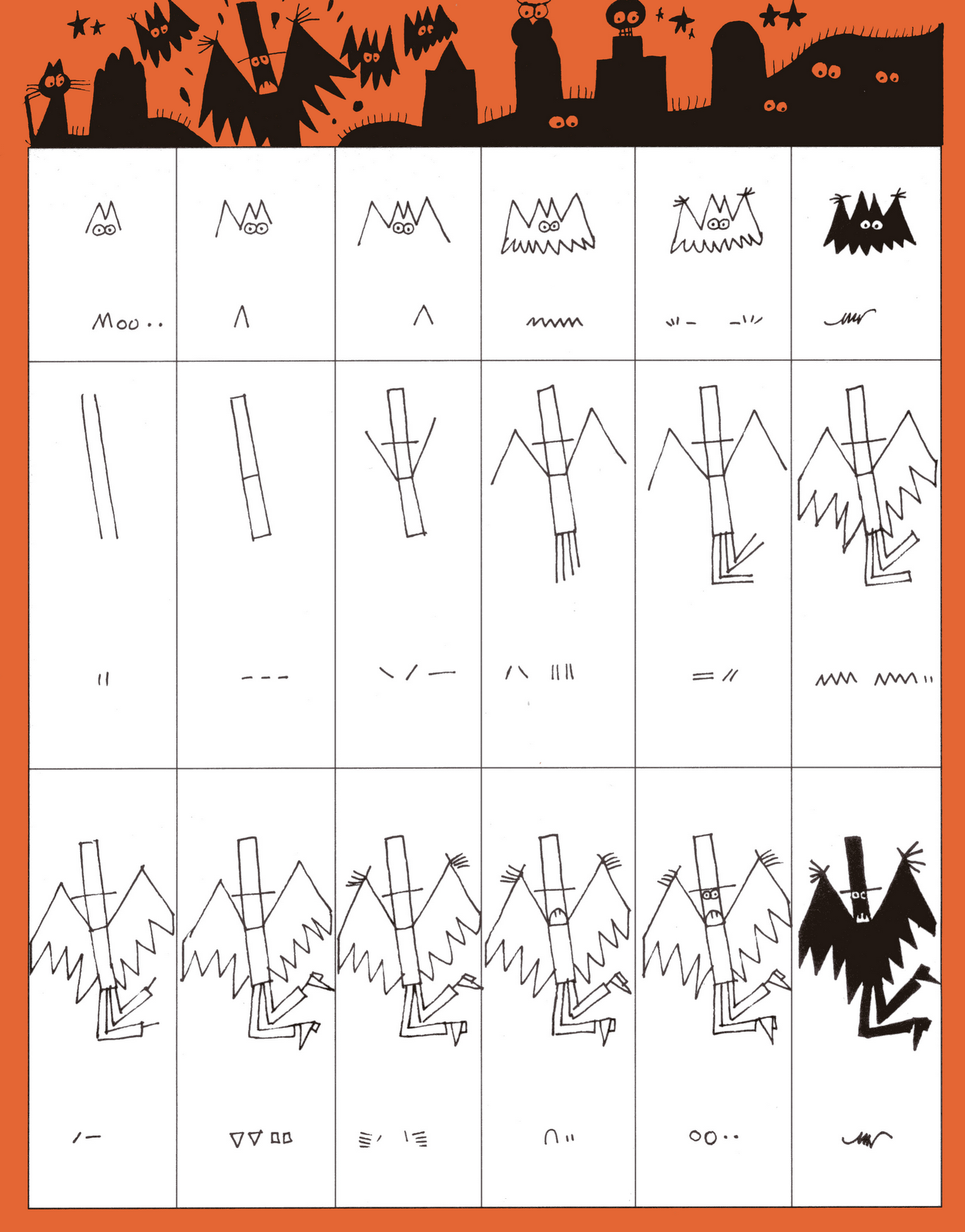 Ed Emberley S Drawing Pages Halloween In