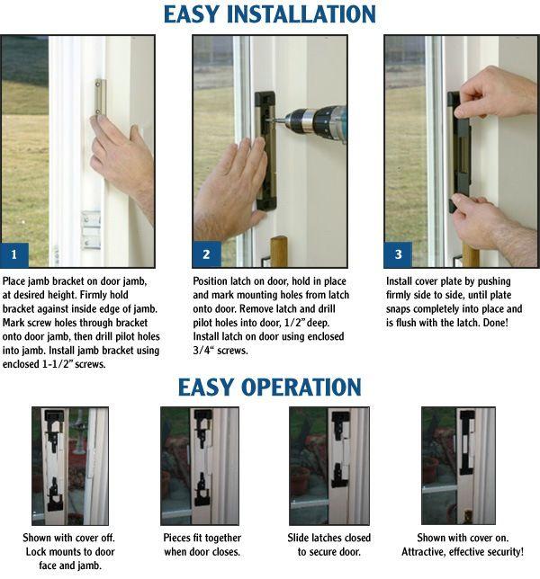 Sliding Glass Door Lock Diys Pinterest Sliding Glass Door