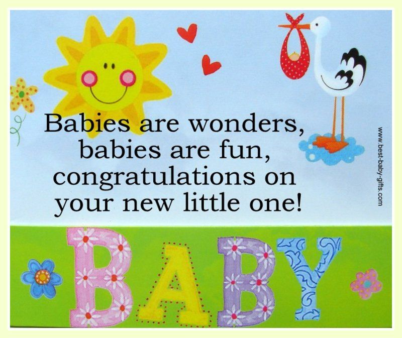 sample messages for your baby congratulations cards