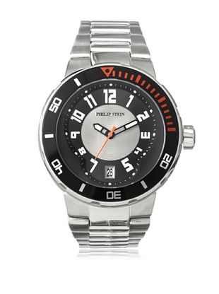 46% OFF Philip Stein Men's 34-BGR-SS Extreme Silver/Grey Stainless Steel Watch
