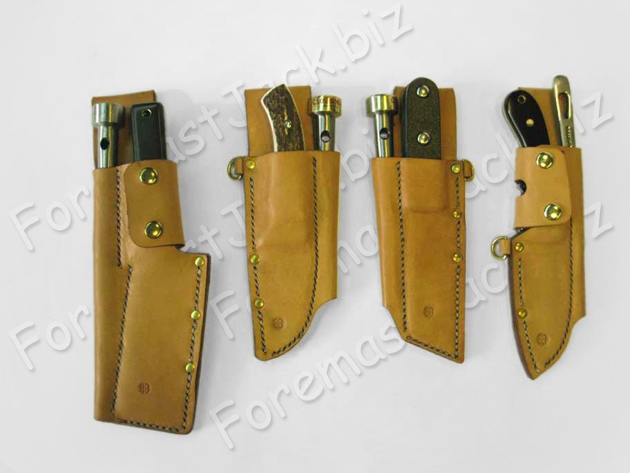 Custom Leather Sheaths Rigging Knives Marlin Spikes