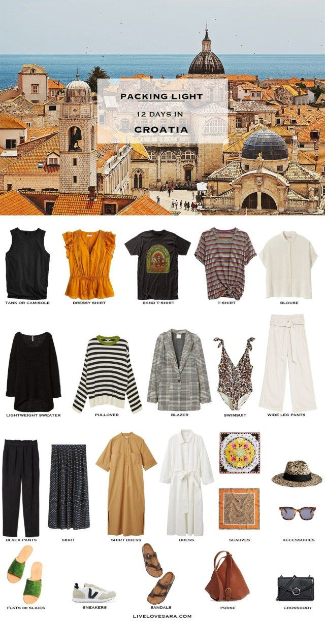 What to Pack for Croatia - Packing Light #beachvacationclothes