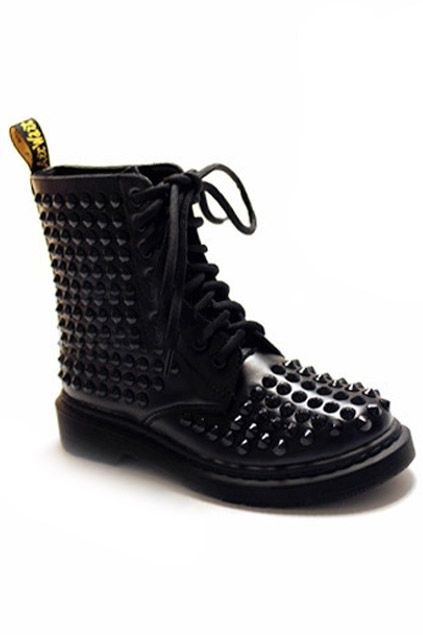 Riveted Black Martin Boots