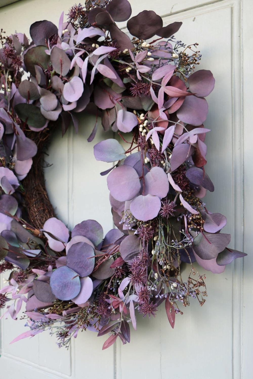 Photo of Faux Eucalyptus Door Wreath – #eucalyptus #wreath – #ChristmasDeco