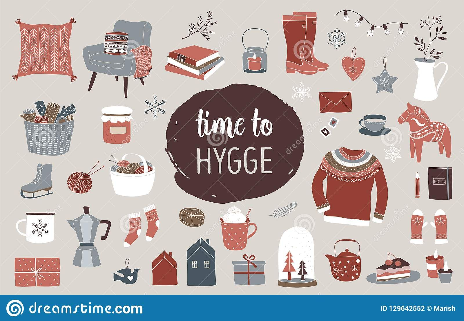 Scandinavian winter elements and Hygge concept design #hygge